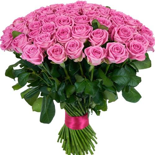Купить на заказ Букет из 101 розовой розы с доставкой в Каскелене